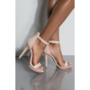 AKIRA Nothing Else Matters Strappy Sandal Nude